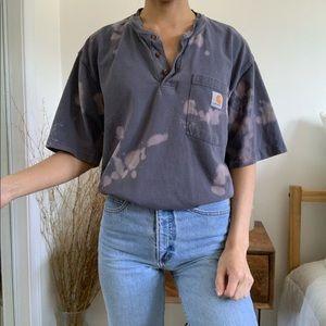 Custom Bleached Carhartt Tie Dye T-Shirt